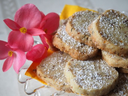 Orange Thyme Icebox Cookies