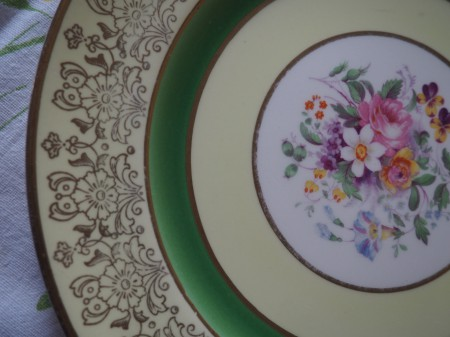 I love old plates.  This is by Johnson Brothers,